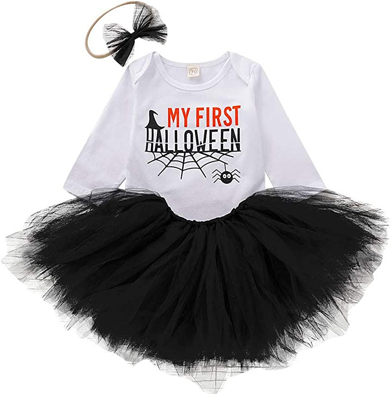 Baby Girls My 1st Thanksgiving Outfit Romper Bodysuit Tutu Skirt With Headband Cake Smash Dress Party Clothes 3Pcs Set