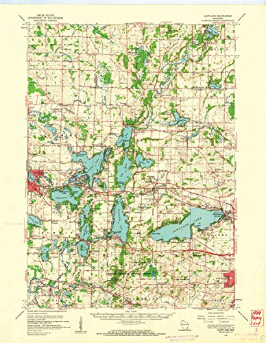 YellowMaps Hartland WI topo map, 1:62500 Scale, 15 X 15 Minute, Historical, 1959, Updated 1961, 21.19 x 16.46 in - Paper (Best Places To Work Remotely In Minneapolis)