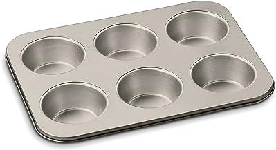 "Cuisinart Chef's Classic Non-Stick 6 Cup Jumbo Muffin Pan, 14"", Bronze"