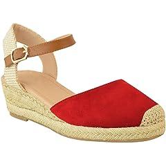 179c4529e156c Fashion Thirsty Womens Mid Heel Wedge Espadrilles Summer Sand .
