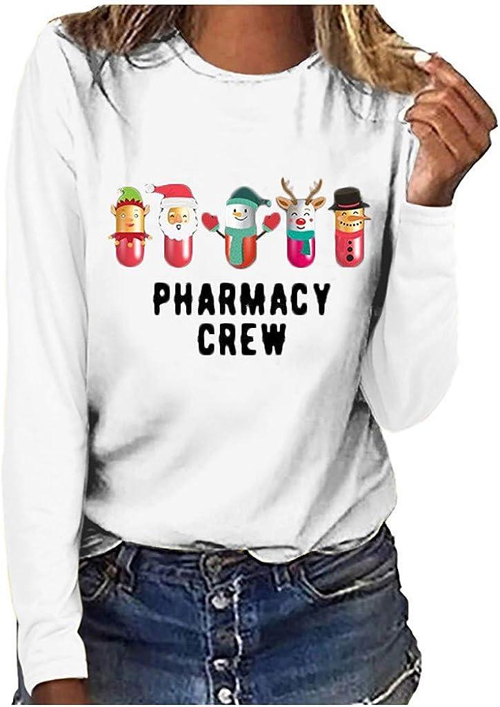 Kethorina Reindeer Snowman Santa T-Shirt Very popular Crew Christmas Special price Pharmacy