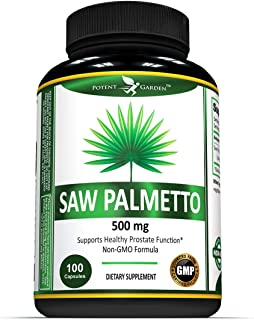Potent Garden Saw Palmetto (Non-GMO & Gluten Free) – Maximum Strength Saw Palmetto Extract Formulated for Men and Women. H...
