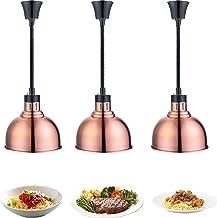 YAOYAOO Lampe Chauffe-Plats, Télescopique Lampe Infrarouge Cuisine Lustre Chauffant pour Restaurant-Buffet, Garder Les Ali...