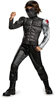Disguise Marvel Captain America The Winter Soldier Movie 2 Winter Soldier Boys Classic Muscle Costume, Small (4-6)