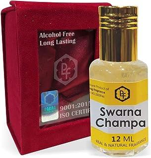 手作りのベルベットボックスParagフレグランスSwarnaチャンパ12ミリリットルアター/香油/(インドの伝統的なBhapka処理方法により、インド製)フレグランスオイル|アターITRA最高の品質長持ち