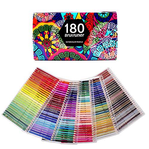 180 Farben Aquarellstifte für Zeichnung Kunst Buntstifte zum Skizzieren, Schattieren & Färben (180 Farben)