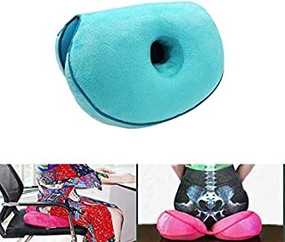 Multi-Dealine Cojín de asiento Dual Comfort Cushion Lift Hips Up, cojín de asiento elevador para ciática, coxis, dolor de cadera, alivio de presión en la espalda