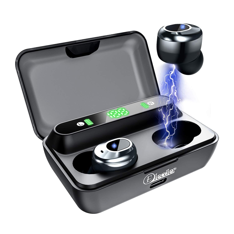 Elecder D12 Auriculares inalámbricos Auriculares Bluetooth 5.0 con Pantalla LED Estuche de Carga Auriculares internos con Graves Profundos para Correr Deportivo(Negro): Amazon.es: Electrónica