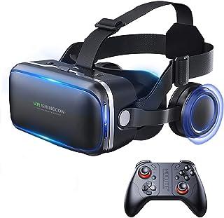 XGVRYG VR Gafas, 3D VR Headset Auriculares de Realidad Virtual Box Virtual Glasses Controlador Bluetooth Compatible con To...