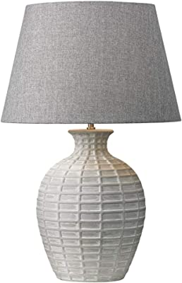 Village At Home Greta 70 cm Table lamp Grey, Chalky White
