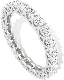 1.70 CT Prong Set Round IGI Certified Diamond Full Eternity Ring, Antique Bridal Wedding Anniversary Promise Matching Ring, Mother Day Stackable Rings
