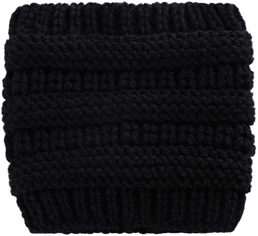 ZFCMIAO Women Knitted Headbands Winter Warm Head Wrap Wide Hair Accessories Hat Girl Head Wrap Wide Ear Warmer Hairband Girls-White_One Size