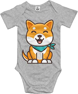 HELLOWI Shiba Inu Dog Baby Girls Bodysuit Gap Fashion Romper Playwear
