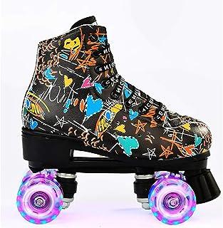 Roller Boots Womens Quad Skates Schoenen Mannen Led Skates Blades Rollerskates voor Volwassen Kids Jongens Meisjes, Retro ...