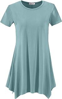 توب دريس المرأة فضفاض صالح سوينغ قميص تونك علوي للضيق