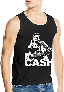 Johnny Cash Mens Breathable Sleeveless Tank Vest T Shirts