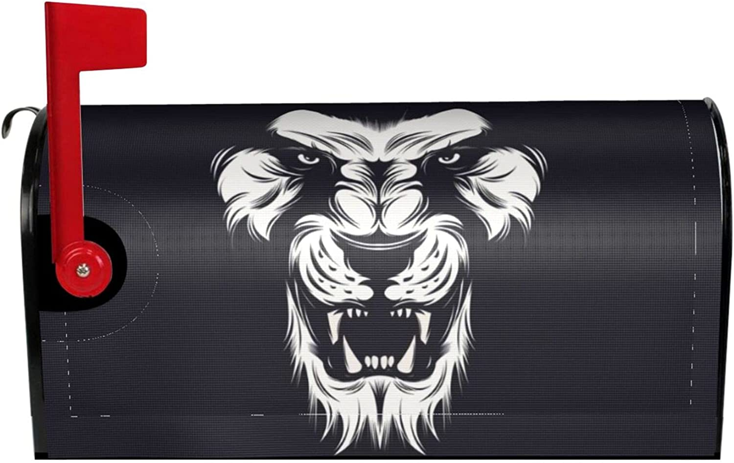 ~ Sketch New product type Art Lion Mailbox Magnetic Waterproof Cover online shop Deco