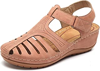 Vrouwen Sandalen Summer Ladies Girls Leather Retro Sandals Buckle Casual Naaien Damesschoenen Dames Muffin Schoenen Grote ...