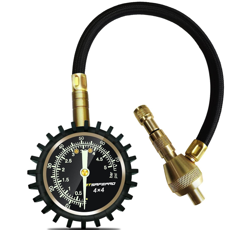 ATsafepro manómetro presión neumáticos,2 en 1 profesional desinflador de ruedas 4x4,Mandril especial de 75 psi,Para 4x4 accesorios todoterreno