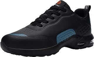 DYKHMILY Chaussure de Securite Homme Femme Legere Coussin d'air Baskets de Sécurité Embout Acier Chaussures de Travail