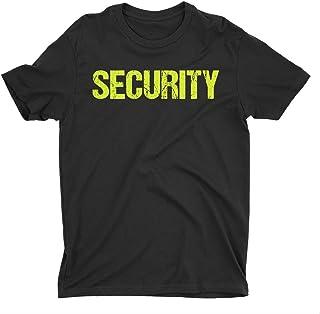 تي شيرت الأمن NYC FACTORY رجالي مطبوع عليه طباعة نيون تي شيرت طاقم الفعاليات الأمامي والخلفي