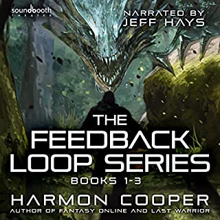 The Feedback Loop: Books 1-3                   By:                                                                                                                                 Harmon Cooper                               Narrated by:                                                                                                                                 Jeff Hays,                                                                                        Soundbooth Theater                      Length: 16 hrs and 2 mins     438 ratings     Overall 4.4