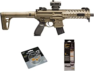 SIG Sauer MPX .177 Cal CO2 Powered Air Rifle with CO2 90 Gram (2 Pack) and 500 Lead Pellets Bundle