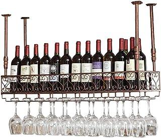 JJ Botellero De Pared | Botellero Vintage De Metal | Sostenedor De Copa De Vino Suspendido | Botellero Rústico Vinoteca De...