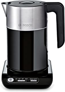 Bosch TWK8613P Styline Chauffe-Eau (2400 W, Sélection de la Température, Arrêt Automatique, Fonction de Maintien au Chaud,...