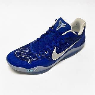 Demar DeRozan Autographed Nike Kobe Zoom Blue Basketball Shoe LE/10 - Autographed NBA Sneakers