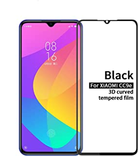 SHUHAN Tempered Glass Film 9H 3D Explosion-proof Curved Screen Tempered Glass Film for Xiaomi Mi CC9e / A3(Black) Mobile P...