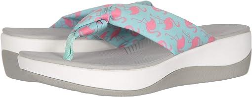 Aqua Textile/Pink Flamingos