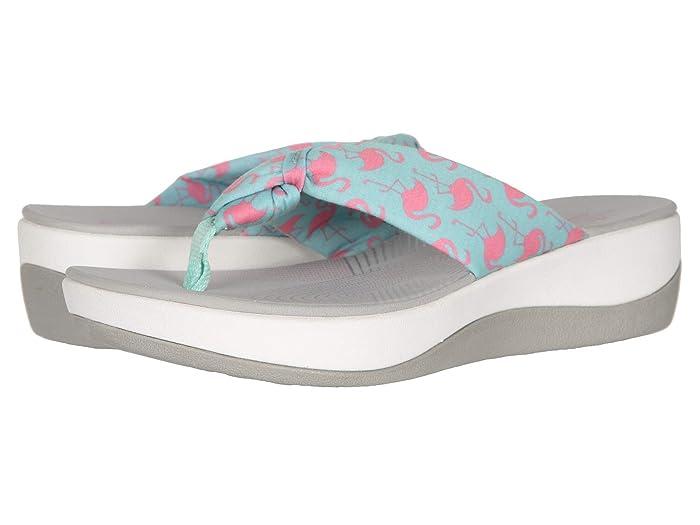 Clarks  Arla Glison (Aqua Textile/Pink Flamingos) Womens Sandals