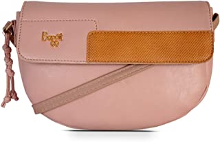 Baggit Autumn-Winter 2020 Faux Leather Women's Saddle Bag (Pink) (Matty)