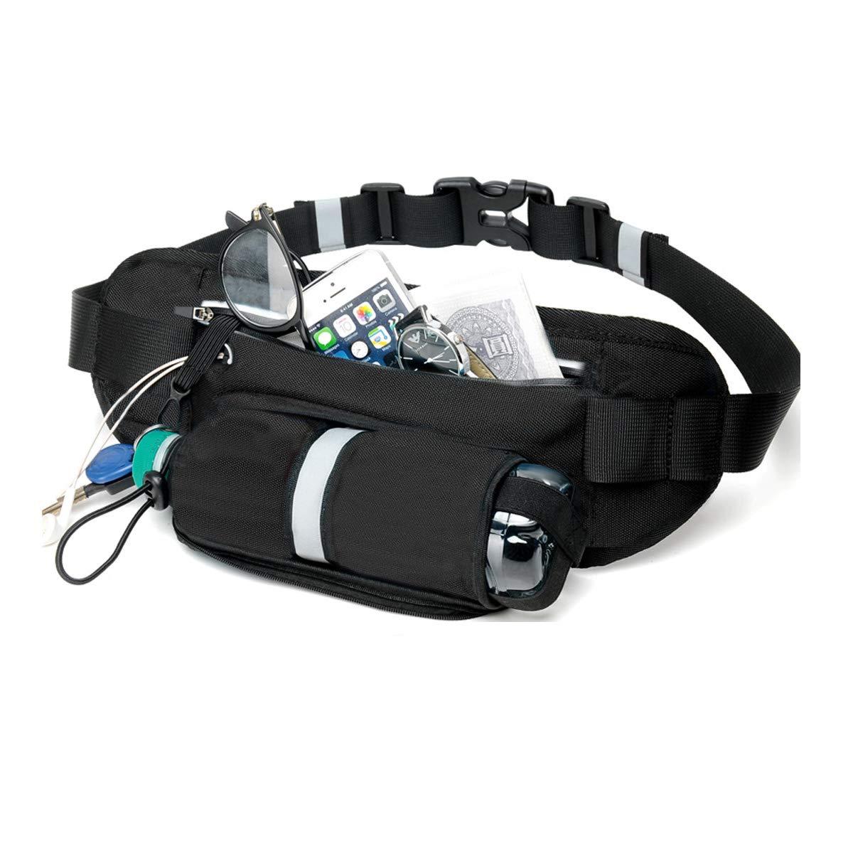 MYCARBON Running Belt with Water Bottle Holder,Waterproof Sport Bum Bag,Cycling Waist Bag Dog Walking Bag Jogging Belt for Exercise,Travel,Outdoor Activities for Phones Below 6 inch