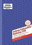 AVERY Zweckform 1749 Auftrag/Lieferschein/Rechnung Kombinationsbuch (A5, 3x40 Blatt, selbstdurchschreibend mit farbigen Durchschlägen, mit Unterschriftenfeld für Auftraggeber) weiß/gelb/rosa