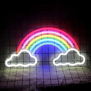 Enseigne au néon arc-en-ciel LED néons mur intérieur néon chambre décoration veilleuse Noël anniversaire fête anniversaire...