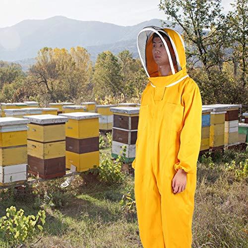 Traje de apicultura con chaqueta de apicultura con velo de malla, ropa protectora duradera para eekeeping, suministros de apicultura suaves, suministros para cervezas de jardín para(L)