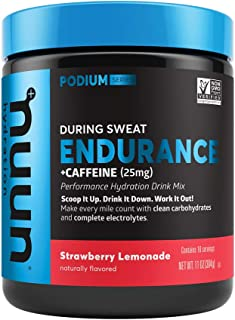 Nuun Endurance | Workout Support | Electrolytes & Carbohydrates (Strawberry Lemonade, 16 Servings - Canister)