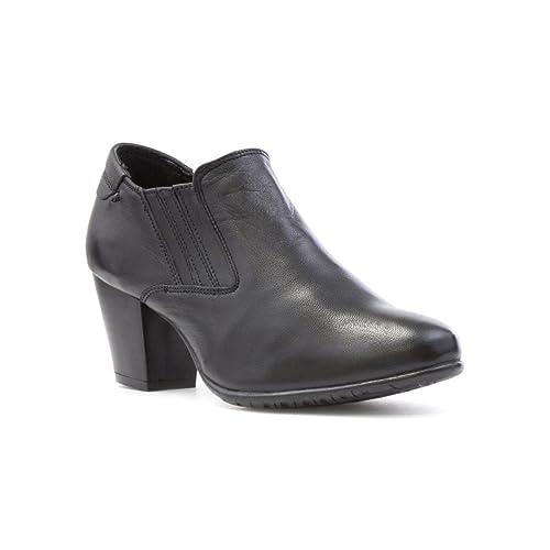 b3e4e90c926 Comfort Plus Womens Black Leather Wide Fit Shoe