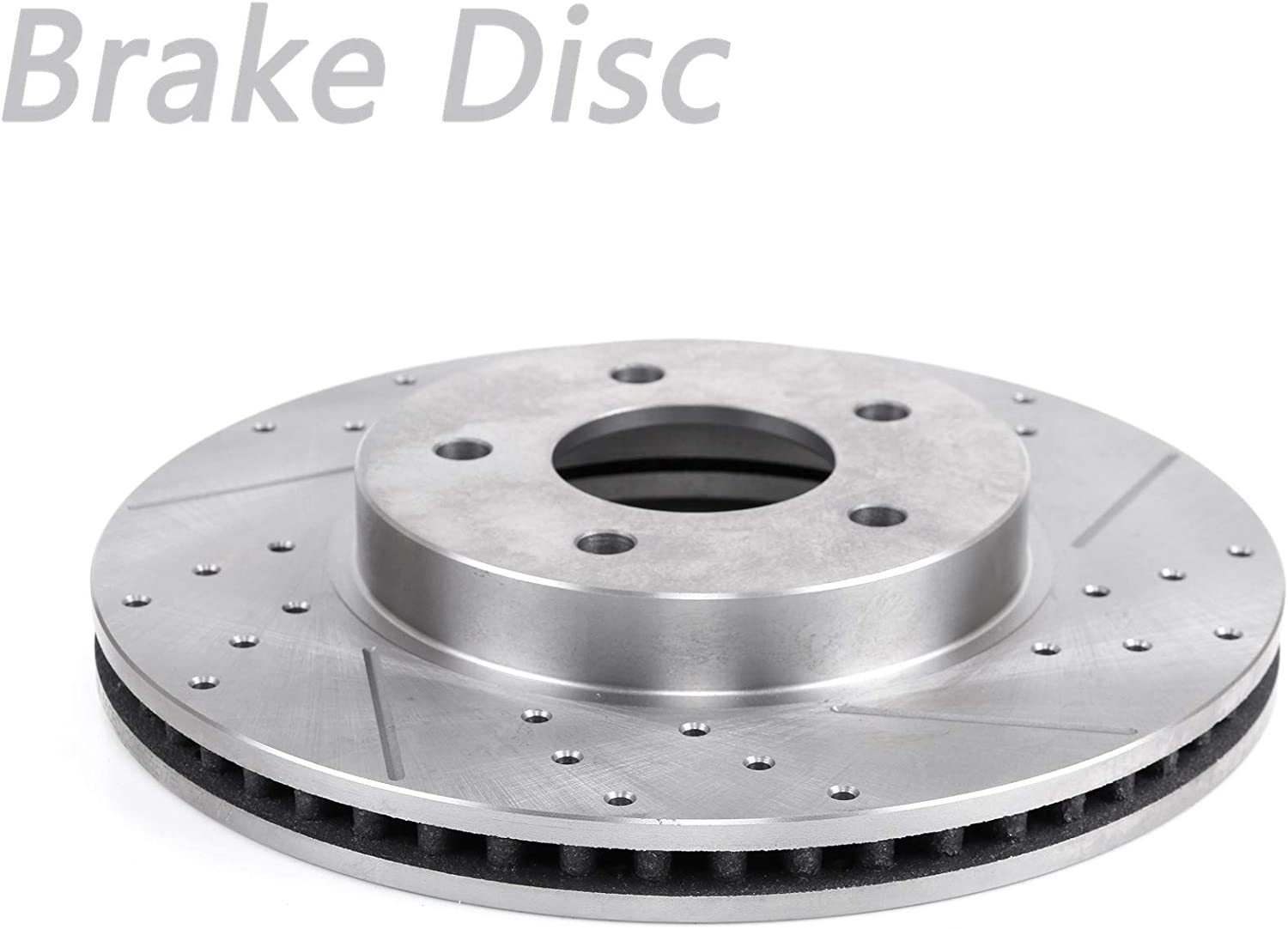 Front Right Drilled Slotted Vented Brake Credence Disc Rotor Portland Mall 80