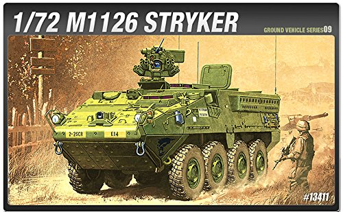 Academy Models 13411 M1126 Stryker US Infantry Carrier Vehicle 1/72 Scale Model Kit