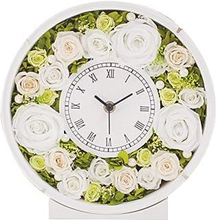 プリザーブドフラワー 花時計 ラウンド グリーン&ホワイト