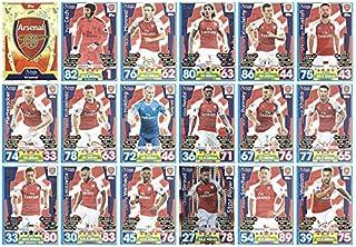 Match Attax 2017/201817/18Full 18tarjeta Arsenal equipo Base Set