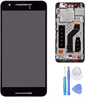 SPHENEL LCD Display and Digitizer Touch Screen Assembly with Screen Frame for Huawei Google Nexus 6P H1511 H1512 (with Frame)