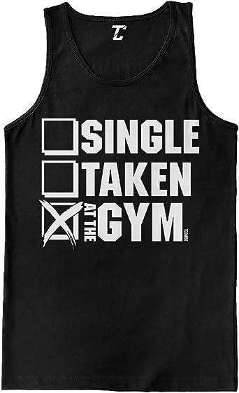 single taken gym tee