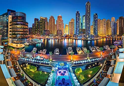Castorland- Dubai Marina Puzzle, Multicolore, C-104222-2
