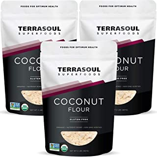 Terrasoul Superfoods Organic Coconut Flour, 6 Lbs (3 Pack) - Gluten-Free   Unrefined   Fine Texture   Premium Quality