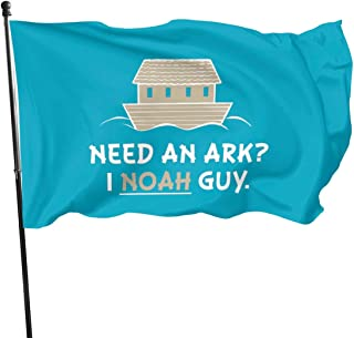 Zhwjko Need-an-ark-i-noah-Guy Polyester Flag,35- Vivid Color