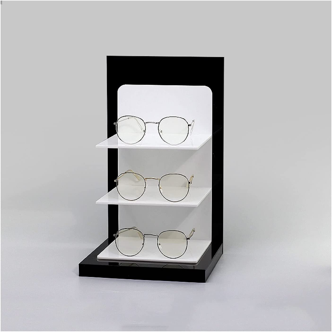 CJshop Sunglasses Rack Holder 3-Pair and Black Acrylic Memphis Outstanding Mall Sun White
